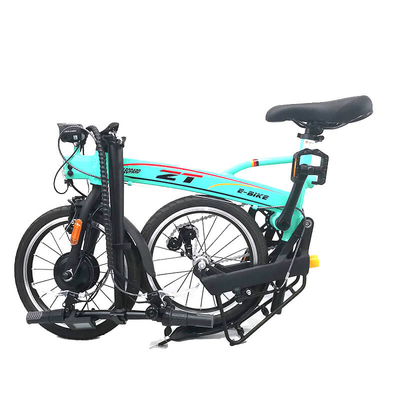 TDR13Z-F 16 inch mini pocket portable Electric folding bicycle Green color